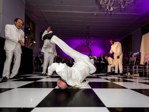 Break dancing at the Star Trust Ball