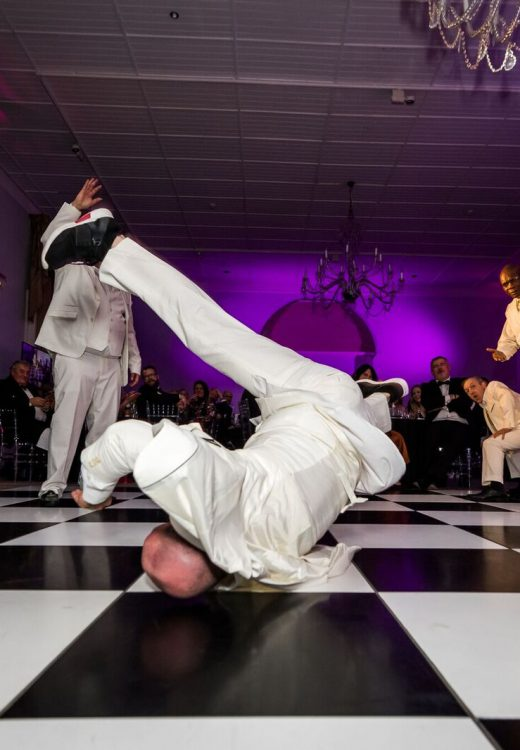 Break dancing at the Star Trust Ball