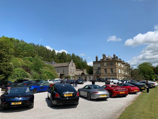 Cars lined up for the Star Trust motoring day